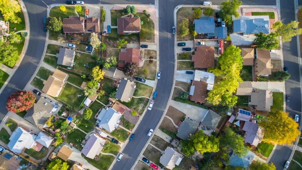 Aerial View of Neighbourhood